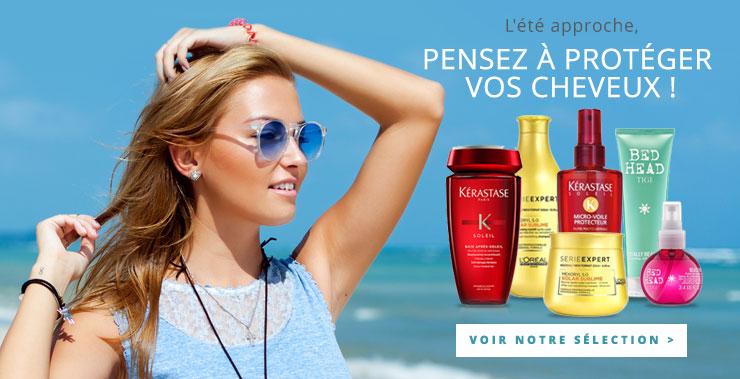 L'été approche, protégez vos cheveux. Voir la sélection de Pascal Coste